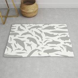 Dolphin a background Rug