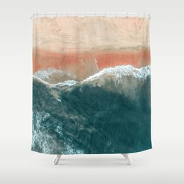 Tropical Drone Beach Photography Shower Curtain