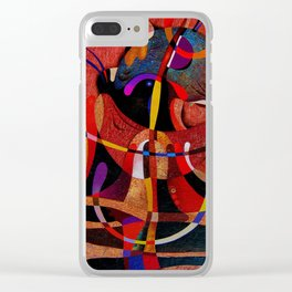 Abstract red expression Clear iPhone Case