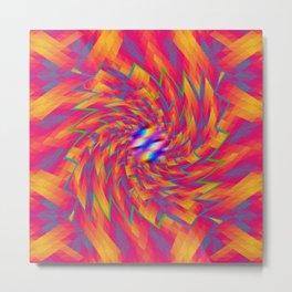 Triangular Twirl Abstract Metal Print