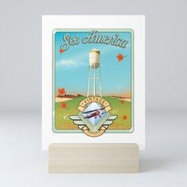 See america vintage travel poster. Mini Art Print