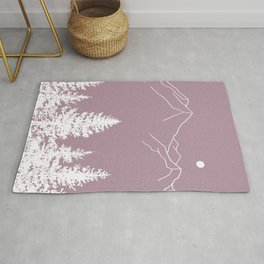 Mountains and Forest at Dusk Rug