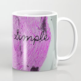 keep it simple dsign Coffee Mug