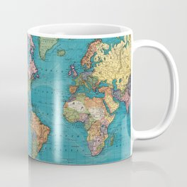 Vintage Map of The World (1897) Coffee Mug