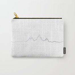 Mountains line silver Carry-All Pouch