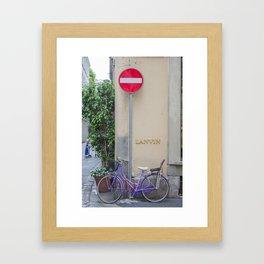 Purple Bicycle Framed Art Print