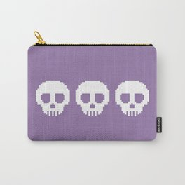Pixel Skulls - Purple Carry-All Pouch