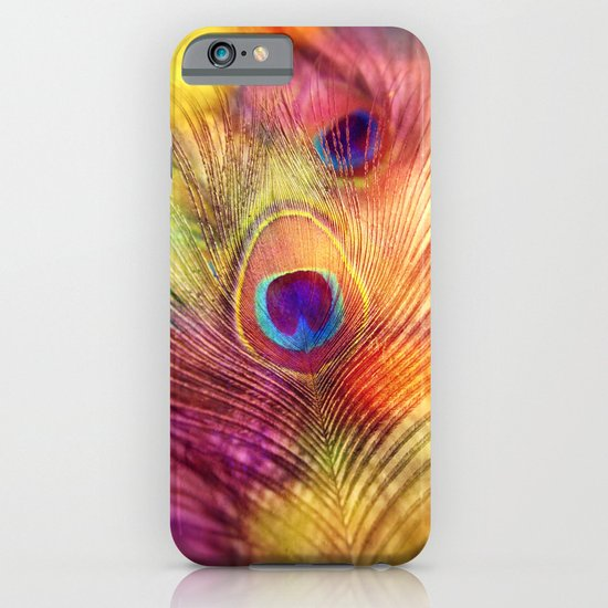 peacock feather iPhone & iPod Case