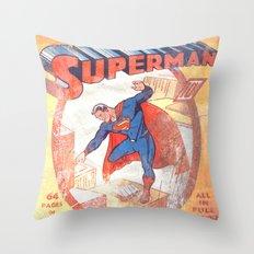 Superman Poster Throw Pillow