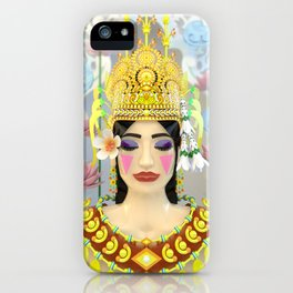 The Meditating Apsara iPhone Case