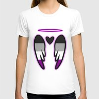 asexual T-shirts featuring Asexual Angel by Nephylim9