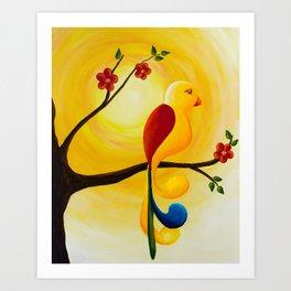 Relax Little Bird Art Print