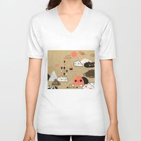 geology V-neck T-shirts featuring Tobermory by Hyein Lee