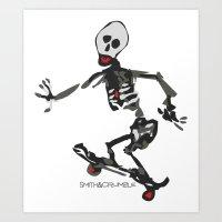 SkeliSkater Art Print