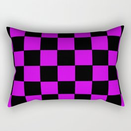 Checkered Purple Rectangular Pillow