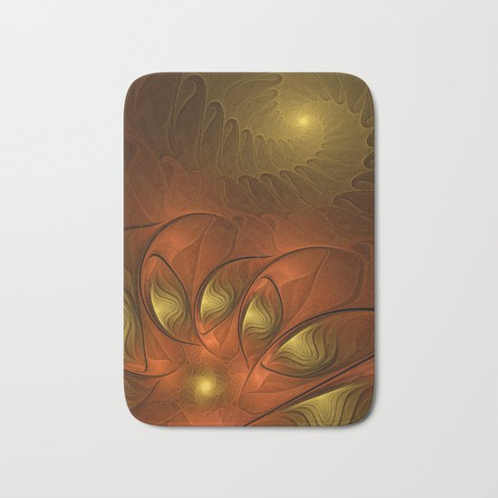 Fantasy in Copper and Gold Bath Mat