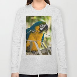 Parrots couple in the tree tops Long Sleeve T-shirt