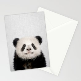 Panda Bear - Colorful Stationery Cards