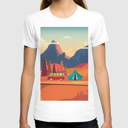 WILD CAMPING AUTUMN LANDSCAPE T-shirt