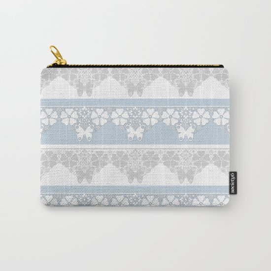 The blue lace . Carry-All Pouch
