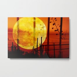 moonset  Metal Print