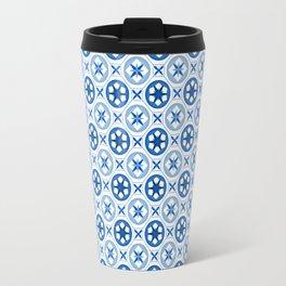 Chinoiseries Porcelain Tiles Blue Travel Mug
