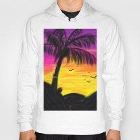 palm Hoodies featuring palm by Mel E Hyman