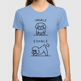 Inhale Exhale Toy Poodle T-shirt