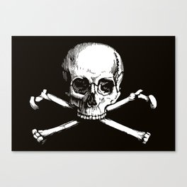 Skull and Crossbones | Jolly Roger Canvas Print
