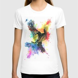 The colourful crow T-shirt