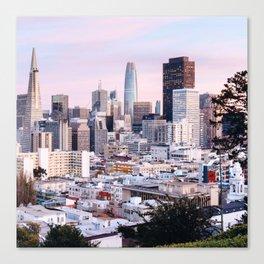 Pretty City - San Francisco Sunset Canvas Print