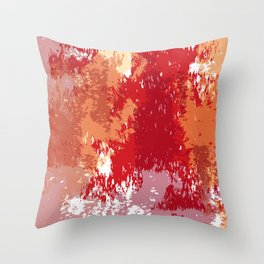 Red Orange Watercolor Throw Pillow