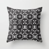 spain Throw Pillows featuring Pattern - Spain by Ryan Tomkinson