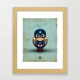 Comic Kids, Series 1 - Junior America Framed Art Print