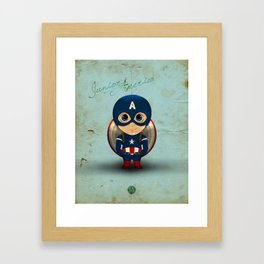 Comic Kids, Series 1 - Junior America Framed Art Print