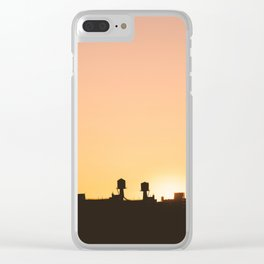 New York Water Towers Sunset Clear iPhone Case