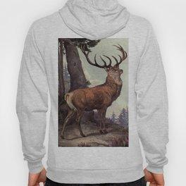 Vintage Red Deer Painting (1909) Hoody