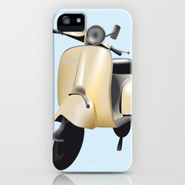 Three Vespa scooters in the colors of the Italian flag iPhone Case