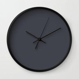 Periscope Grey Black | Solid Colour Wall Clock