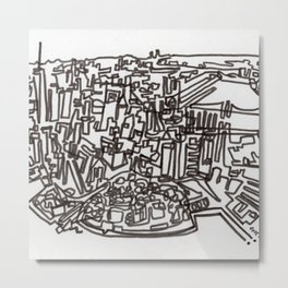 Lower Manhattan Line Metal Print