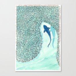 Tiger Shark Hunting Canvas Print