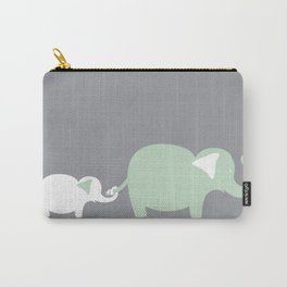 Mom and Baby Elephant Carry-All Pouch