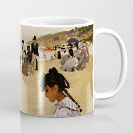 On the Beach at Trouville by Claude Monet Coffee Mug
