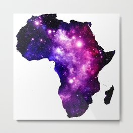 Africa : purple pink fuchsia galaxy Metal Print