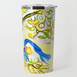 Yellow Bluebirds Sittin in a Tree, K I S S I N G by CheyAnne Sexton Travel Mug