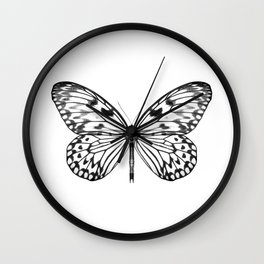Mono Rice Paper Butterfly Wall Clock