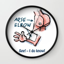 Arse & Elbow Wall Clock