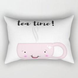 Tea time illustration Rectangular Pillow