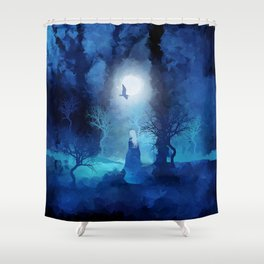The Magician by Viviana Gonzales and Paul Kimble Shower Curtain