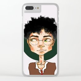Lightning Scar and a Green aura Clear iPhone Case